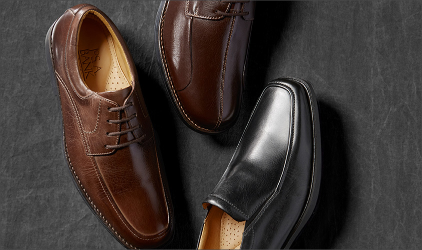 mens casual dress shoes, formal shoes for men by Jos A Bank