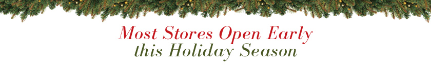 Most Stores Open Early this Holiday Season!